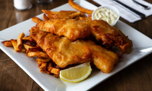 Fish n Chips (Pour 4 Personnes) / Fish n Chips (For 4 People)