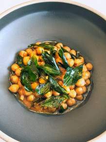 Pois chiches braisés / Braised Chickpeas