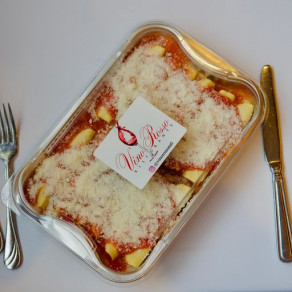 Cannelloni Meat Filled in a Tomato Sauce
