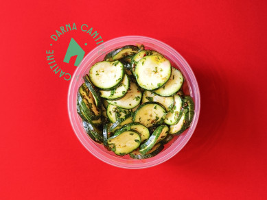 Courgettes marinées / Marinated Zucchini