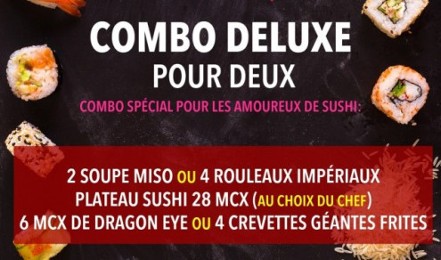 Combo deluxe pour 2 / Deluxe Combo for 2